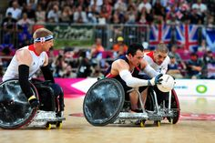USA races for the goal-line at the London Paralympic Games