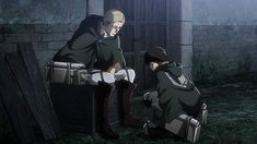 For an anime series about fighting off man-eating titans and ensuring the survival of humanity, Attack on Titan still manages to tackle the little things our characters face head-on, including their relationships with one another. Watch Attack On Titan, Attack On Titan Season, Attack On Titan Levi, Levi And Erwin, Eruri, Manga Games, Armin, Season 3, Anime Manga