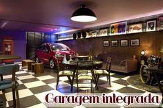 Garagens modernas integradas a área de lazer e até a sala de estar!