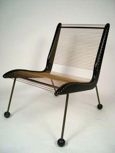 Cord Chair de Jacques Gillon para Modernart, 1954.