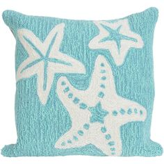 Liora Manne Frontporch Starfish Square Outdoor Pillow (2,980 PHP) ❤ liked on Polyvore featuring home, outdoors and outdoor decor