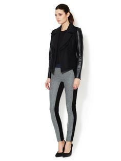 Wool Seamed Trousers by Love Zooey at Gilt