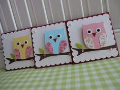 Hooters Sweet n Cute Owl Embellishments Scrapbook Cards, Scrapbooking, Scrapbook Albums, Owl Crafts, Paper Crafts, Owl Punch Cards, Card Tags, Card Kit, Gift Tags
