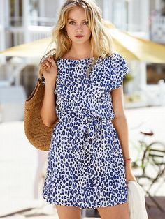 love the fit- not the print. Woven T-shirt Dress