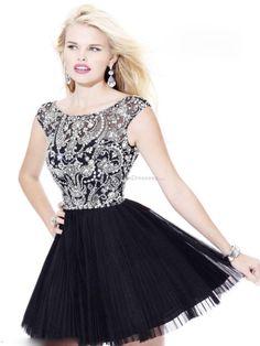 Sweet 16 Dress short black beading Sweet 16 Dresses