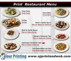 Complete your menu with professional #Menu #Printing services at Njprintandweb. Visit today http://www.njprintandweb.com/printing/print-restaurant-menu/