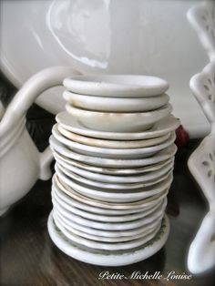 Stack of butter plates