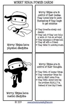 Worry Ninja Power Cards