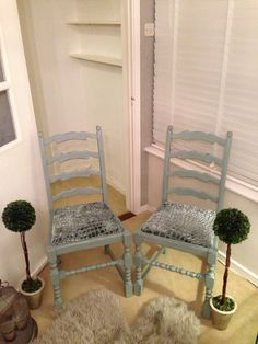 Shabby Chic Painted chairs