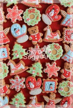 christmas icing cookie