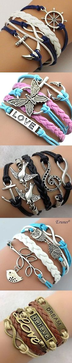 Big collection of leather bracelets with cute charms is already here. Up to 70% OFF! Click on the picture to explore more.
