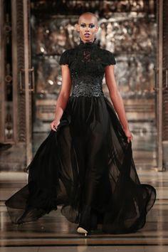 Ziad Ghanem black beaded dress