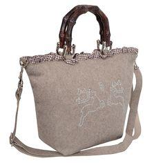 Süße Trachtentasche zum Dirndl in Anthrazit von Almsach, Farbe:Anthrazit Almsach