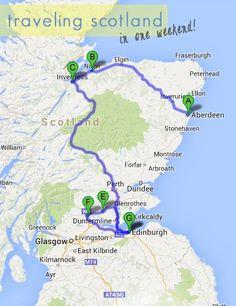 Roadtrip through Scotland in 2 days!