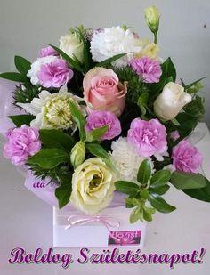 Birthday Wishes Flowers, Good Morning Gif, Floral Wreath, Happy Birthday, Wreaths, Rose, Decor, Google, Birthday