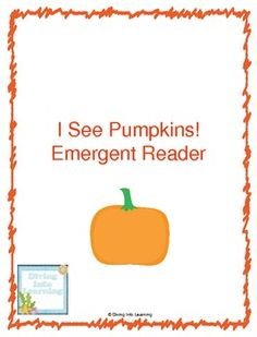 Freebie! I See Pumpkins! Printable Book