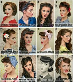 The Freckled Fox - a Hairstyle Blog: Halloween Inspiration: Retro Hair Tutorial Round-up