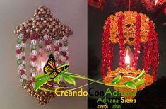 NAVIDAD - CREANDOCONADRIANA Beaded Crafts, Clock, Beads, Christmas, Inspiration, Home Decor, Log Projects, Light Installation, Napkin Holders