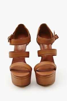 Isis Wedge - Tan $68.00
