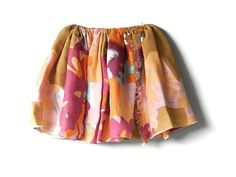 Yellow with red floral patter skirt for by QuickFashionSkirts, $29.00