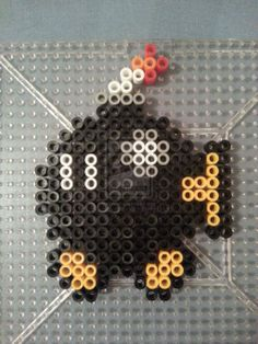 Bob-omb Perler Bead Figure by AshMoonDesigns.deviantart.com on @deviantART