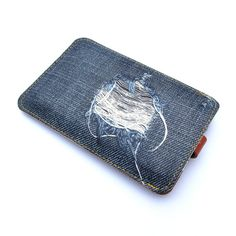 NEW The denim and leather remix iPhone case by  tovicorrie on Etsy, $40.00
