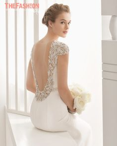 From deep dips to embellished illusions and sexy slits, these backs will make sure you look just as good receding from the aisle as you do walking down it. All the gowns featured in this post are f…