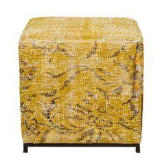 scent sofia square pouf from ABC Carpet Unique Furniture, Furniture Decor, Decorating Your Home, Diy Home Decor, Cube Seat, Carpet Squares, Kilim Ottoman, Square Pouf, Cube Design