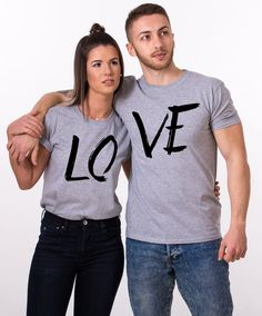 Tshirt couple Love (lot de 2)