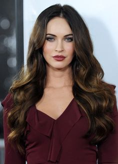 Megan Fox, soft waves and soft ombre