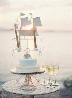 nautical inspired wedding cake www.MadamPaloozaEmporium.com www.facebook.com/MadamPalooza