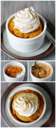 This Pumpkin Mug Cake recipe is dangerously easy to make! You are only 60 second. This Pumpkin Mug Cake recipe is dangerously easy to make! You are only 60 seconds away from warm, delicious pumpkin cake. Mug Recipes, Pumpkin Recipes, Fall Recipes, Cooking Recipes, Cooking Food, Recipies, Just Desserts, Delicious Desserts, Dessert Recipes