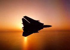 Tomcat Banking at Sunset Military Jets, Military Aircraft, Fighter Aircraft, Fighter Jets, Tomcat F14, Uss Enterprise Cvn 65, Aircraft Photos, United States Navy, Jet Plane