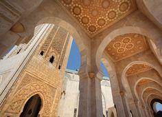 Casablanca Arches Architectural Historic Mosque Wall Mural for a Religious Interior Design M9156