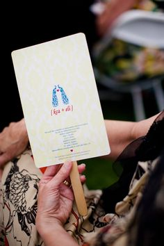 fan programs, Lesbian wedding, Angie Wilson Photography