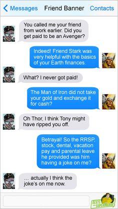 Texts From Superheroes Avengers Humor, Funny Marvel Memes, Marvel Jokes, Dc Memes, Marvel Dc Comics, Marvel Heroes, Funny Comics, Marvel Avengers, Funny Memes