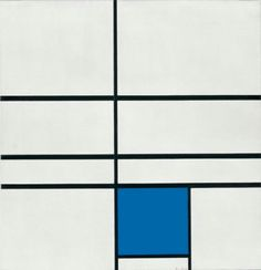 Piet Mondrian, Composition with Double Line and Blue, 1935
