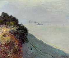 The English Coast, Penarth  Alfred Sisley - 1897  Niedersaechsisches Landesmuseum (Germany)  Painting - oil on canvas