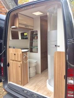 Lunar Landstar EW S Edition Motorhome Sprinter Van Conversion, Camper Van Conversion Diy, Build A Camper Van, Camper Bathroom, Day Van, Sprinter Camper, Campervan Interior, Van Living, November 2015
