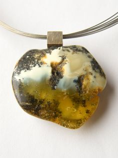 FREE Shipping Amber Pendant Silver 925 White by JewellerWithSoul