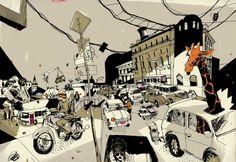 100 Cars We Love / Josh Cochran   Design Graphique