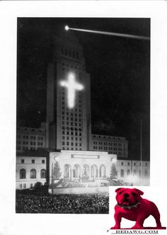 1932 Christmas L.A. City Hall Los Angeles California