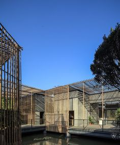 Bamboo Courtyard Teehaus / Harmony World Beratung & Design – ArchDaily Gallery of Bamboo Courtyard Teahouse / Harmony World Consulting & Design – 9 Nature Architecture, Chinese Architecture, Facade Architecture, Contemporary Architecture, Sustainable Architecture, Amazing Architecture, Facade Design, Exterior Design, House Design