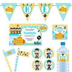 Kit Festa Yellow Submarine (Beatles) from 4Party|Kits para Festas…