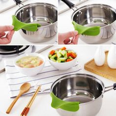 1X Silicone Soup Funnel Kitchen Gadget Tools Water Deflector Cooking Tool