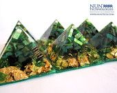 Holiday Sale!! Buy2Get1Free! Crystal Orgone Pyramid  For Attracting Wealth, Abundance and Prosperity  By DR NEB HERU