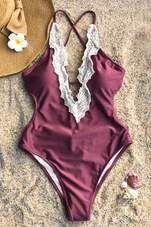 Cupshe Enormous Enjoyment Lace One-piece Swimsuit