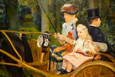 Mary Cassatt - A Woman and a Girl Driving, 1881 at the Museum of Art Philadelphia PA  Also viewed at Degas - Cassatt Exhibit at National Gallery of Art Washington DC