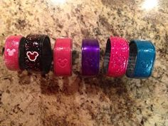 Has anyone decorated their Magic Bands? Please show us the pictures! - Page 14 - The DIS Discussion Forums - DISboards.com