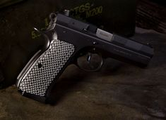A CZ 75 is a substantial gun. Put a grip on your CZ that will help you keep that pistol securely in your hand. is a highly durable glass laminate that is created with high pressure and high heat. Custom 1911 Grips, Cz 75, Guns And Ammo, Hand Guns, Palm, Pistols, Fit, Glass, Firearms